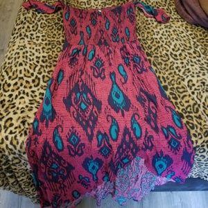 Xhilaration off the shoulder maxi slit dress